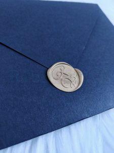 Envelope Convite Casamento Preto com Lacre
