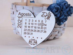 Lembrança Calendário Coração