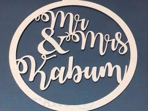 Placa Mr & Mrs