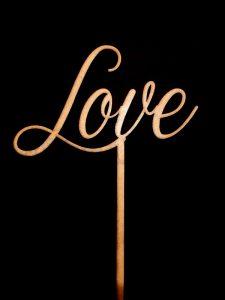 Topo de Bolo Casamento Love