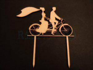 Topo de Bolo Casamento Bicicleta