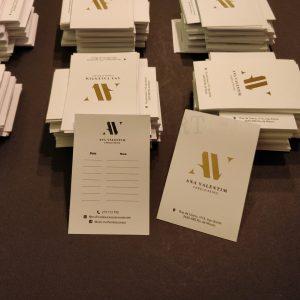 Cartões de Visita Dourado