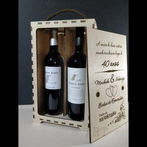 Caixa de Vinho Madeira Bodas de Esmeralda
