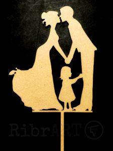 Topo de Bolo Casamento Pais & Menina